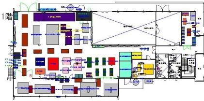 ものづくり教育研究センター機械配置図